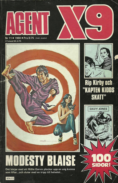 Cover for Agent X9 (Semic, 1971 series) #11/1980