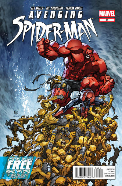 Cover for Avenging Spider-Man (Marvel, 2012 series) #2 [Variant Edition - McGuinness]