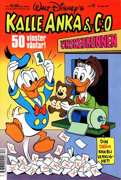 Cover for Kalle Anka & C:o (Hemmets Journal, 1957 series) #12/1991