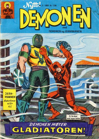 Cover for Demonen (Serieforlaget / Se-Bladene / Stabenfeldt, 1969 series) #2/1969