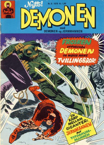 Cover for Demonen (Serieforlaget / Se-Bladene / Stabenfeldt, 1969 series) #6/1970