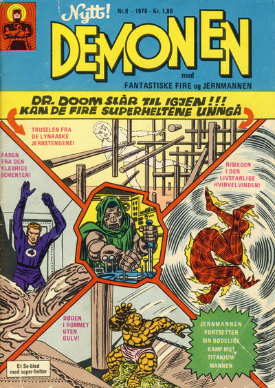 Cover for Demonen (Serieforlaget / Se-Bladene / Stabenfeldt, 1969 series) #8/1970