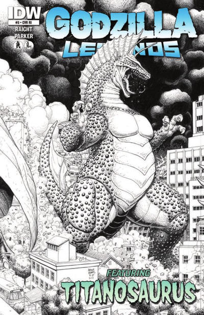 Cover for Godzilla Legends (IDW, 2011 series) #3 [Cover A]