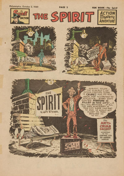 Cover for The Spirit (Register and Tribune Syndicate, 1940 series) #10/2/1949