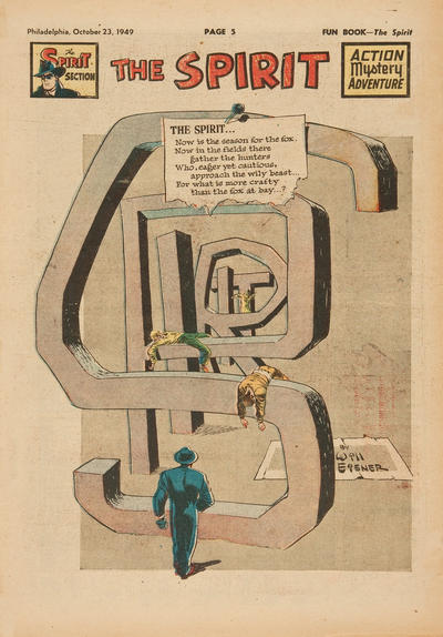 Cover for The Spirit (Register and Tribune Syndicate, 1940 series) #10/23/1949