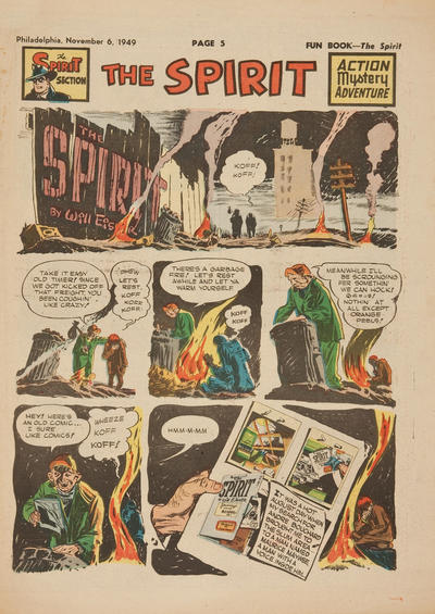 Cover for The Spirit (Register and Tribune Syndicate, 1940 series) #11/6/1949