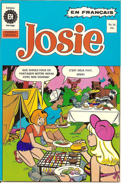 Cover for Josie (Editions Héritage, 1974 series) #16
