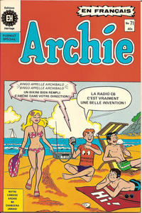 Cover for Archie (Editions Héritage, 1971 series) #71