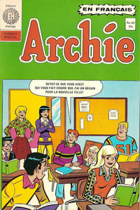 Cover Thumbnail for Archie (Editions Héritage, 1971 series) #60