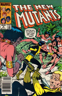 Cover Thumbnail for The New Mutants (Marvel, 1983 series) #8 [Newsstand Edition]
