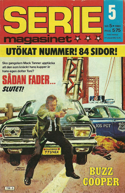 Cover for Seriemagasinet (Semic, 1970 series) #5/1980