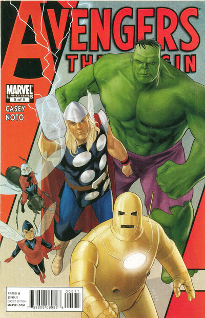 Cover for Avengers: The Origin (Marvel, 2010 series) #5