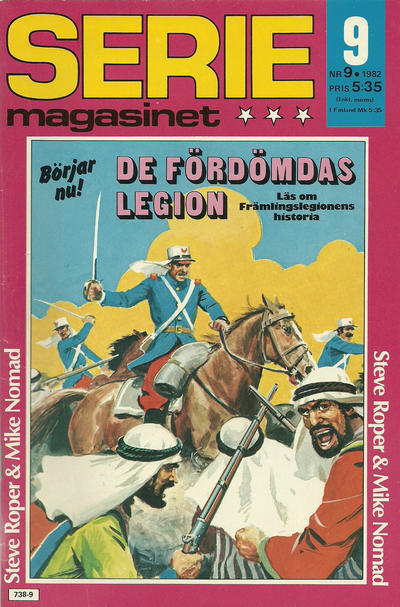 Cover for Seriemagasinet (Semic, 1970 series) #9/1982