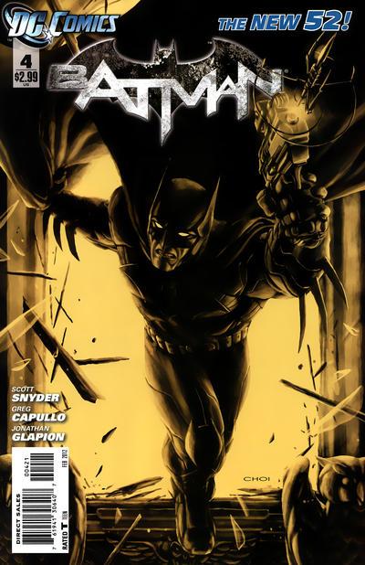Cover for Batman (DC, 2011 series) #4 [Greg Capullo Black & White Cover]