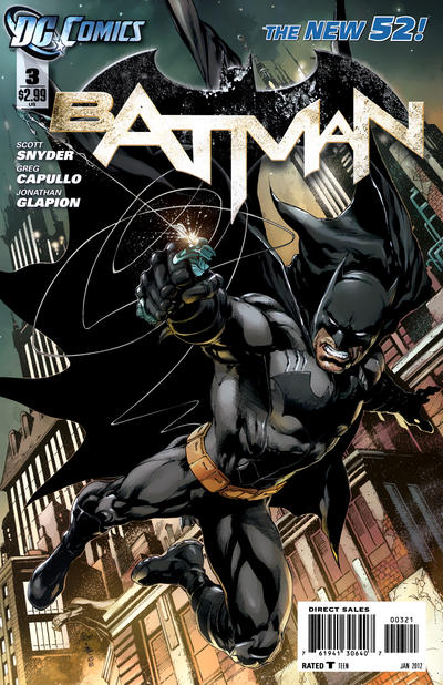 Cover for Batman (DC, 2011 series) #3 [Greg Capullo Variant Sketch Cover]