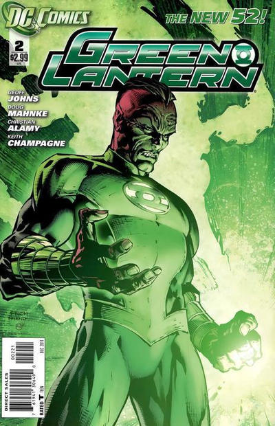 Cover for Green Lantern (DC, 2011 series) #2 [Direct Sales]