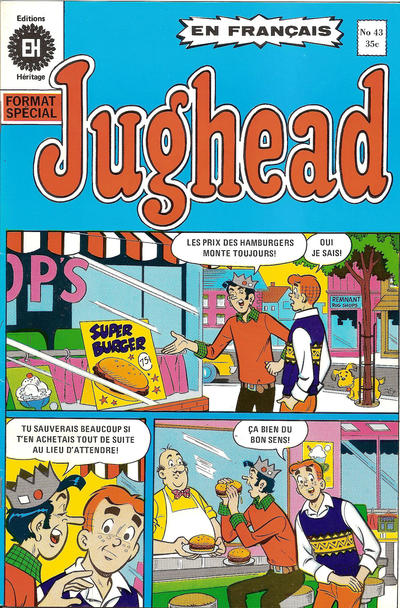 Cover for Jughead (Editions Héritage, 1972 series) #43