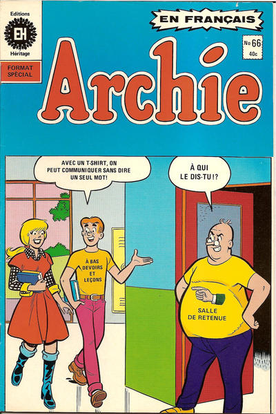 Cover for Archie (Editions Héritage, 1971 series) #66