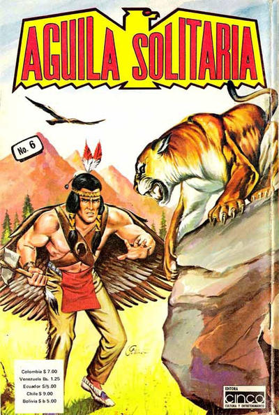 Cover for Aguila Solitaria (Editora Cinco, 1976 ? series) #6