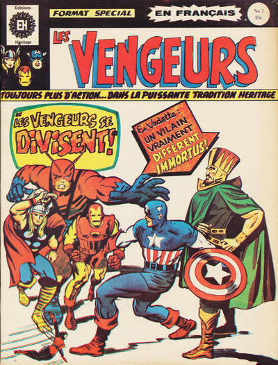 Cover for Les Vengeurs (Editions Héritage, 1974 series) #7