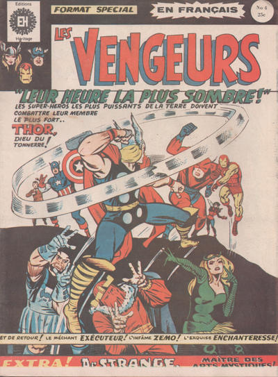 Cover for Les Vengeurs (Editions Héritage, 1974 series) #4