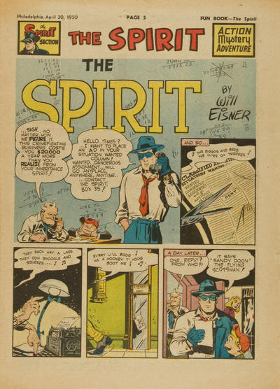 Cover for The Spirit (Register and Tribune Syndicate, 1940 series) #4/30/1950