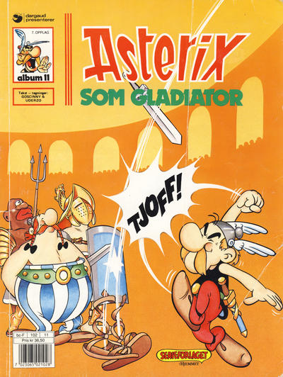 Cover for Asterix (Hjemmet / Egmont, 1969 series) #11 - Asterix som gladiator [8. opplag [7. opplag]]