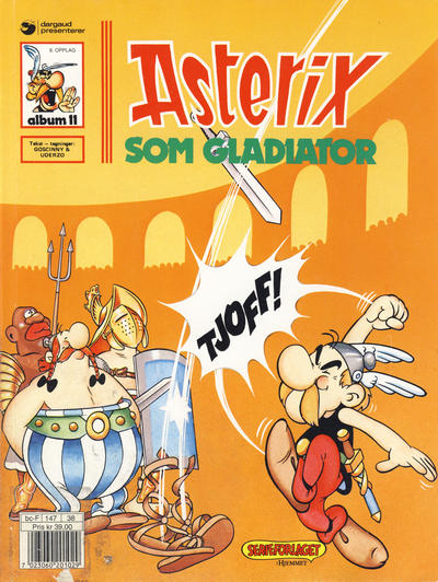 Cover for Asterix (Hjemmet / Egmont, 1969 series) #11 - Asterix som gladiator [7. opplag]