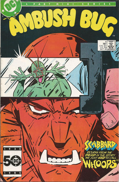 Cover for Ambush Bug (DC, 1985 series) #4 [United States newsstand edition]