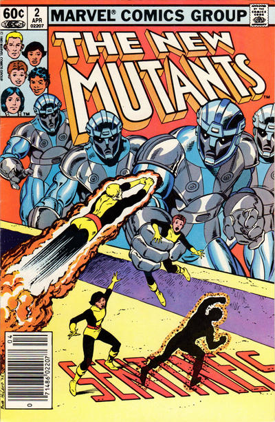Cover for The New Mutants (Marvel, 1983 series) #2 [Newsstand Edition]