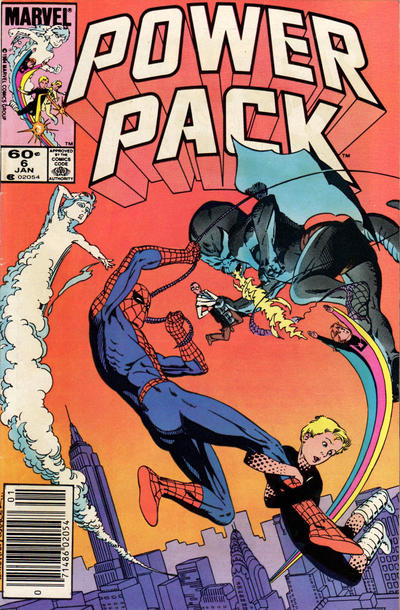 Cover for Power Pack (Marvel, 1984 series) #6 [Direct Edition]