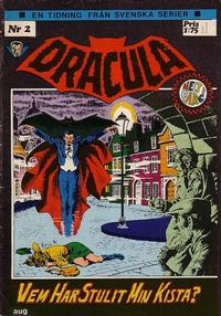 Cover for Dracula (Svenska serier, 1972 series) #2/[1972]
