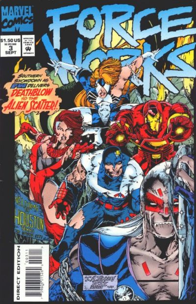 Cover for Force Works (Marvel, 1994 series) #3 [Direct Edition]
