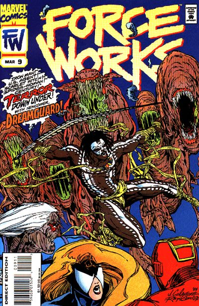Cover for Force Works (Marvel, 1994 series) #9 [Direct Edition]