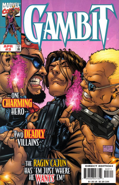 Cover for Gambit (Marvel, 1999 series) #3 [Direct Edition]