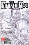 Cover for The Punisher (Marvel, 2011 series) #1 [2nd Printing Variant - Bryan Hitch Sketch Cover]