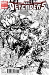 Cover for Defenders (Marvel, 2012 series) #1 [Direct Market Sketch Variant Cover by Neal Adams]