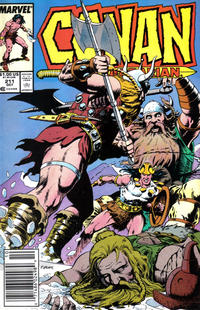 Cover Thumbnail for Conan the Barbarian (Marvel, 1970 series) #211 [Newsstand Edition]