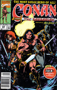 Cover Thumbnail for Conan the Barbarian (Marvel, 1970 series) #244 [Newsstand Edition]