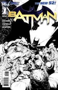 Cover Thumbnail for Batman (DC, 2011 series) #1 [Greg Capullo Sketch Cover]