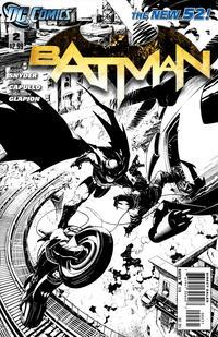 Cover Thumbnail for Batman (DC, 2011 series) #2 [Greg Capullo Sketch Cover]