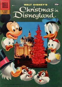 Cover Thumbnail for Christmas In Disneyland (Dell, 1957 series) #1 [30-Cent Variant]