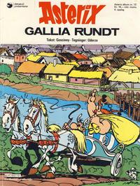 Cover Thumbnail for Asterix (Hjemmet / Egmont, 1969 series) #12 - Gallia rundt [4. opplag]