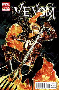 Cover Thumbnail for Venom (Marvel, 2011 series) #12 [Direct Market Venom Variant Cover by Mike Del Mundo]