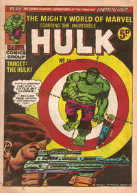 Cover for The Mighty World of Marvel (Marvel UK, 1972 series) #54