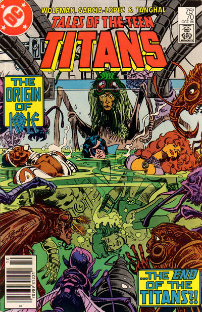 Cover for Tales of the Teen Titans (DC, 1984 series) #70 [Direct Sales]