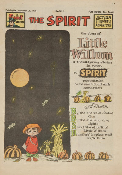 Cover for The Spirit (Register and Tribune Syndicate, 1940 series) #11/26/1950