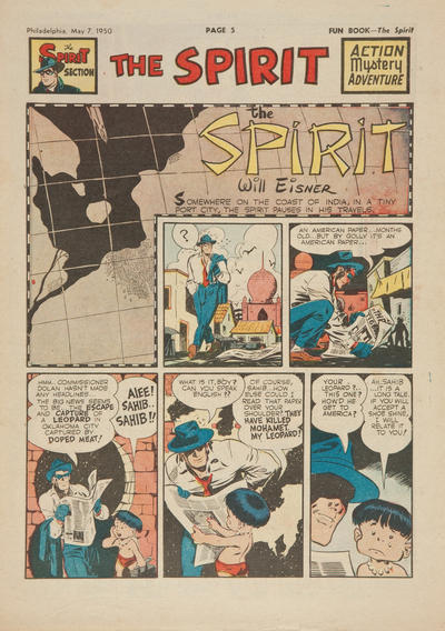 Cover for The Spirit (Register and Tribune Syndicate, 1940 series) #5/7/1950