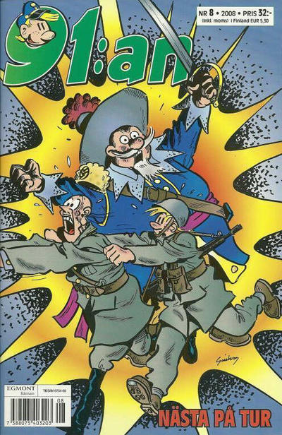 Cover for 91:an (Egmont, 1997 series) #8/2008