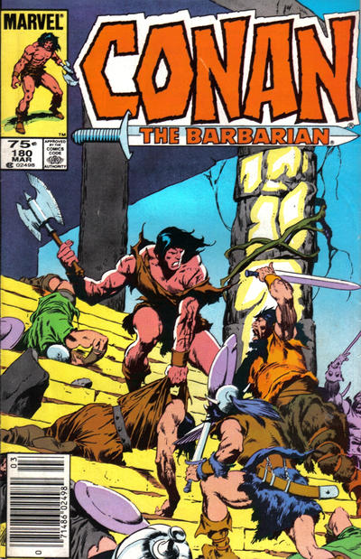 Cover for Conan the Barbarian (Marvel, 1970 series) #180 [Newsstand Edition]